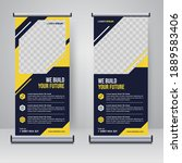 corporate rollup or x banner... | Shutterstock .eps vector #1889583406