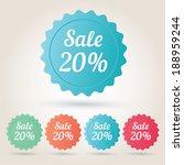 vector sale 20  badge sticker   Shutterstock .eps vector #188959244