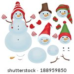 vector snowman template  make... | Shutterstock .eps vector #188959850