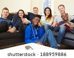 group of friends watching... | Shutterstock . vector #188959886