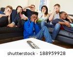 group of friends watching... | Shutterstock . vector #188959928