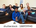 group of friends watching... | Shutterstock . vector #188959940