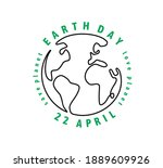 earth day globe with text | Shutterstock .eps vector #1889609926