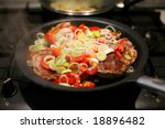 slices of meat fried with... | Shutterstock . vector #18896482