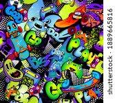 abstract seamless pattern... | Shutterstock .eps vector #1889665816