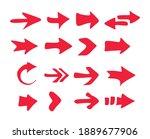 hand drawn arrows set. arrow... | Shutterstock .eps vector #1889677906