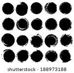 grunge shapes.  | Shutterstock . vector #188973188