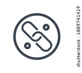 link related glyph icon....   Shutterstock . vector #1889741419