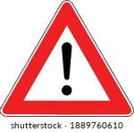street danger sign. road... | Shutterstock .eps vector #1889760610