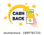 arrow returned gold coins and... | Shutterstock .eps vector #1889782720