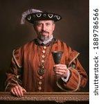 Medieval portrait of man in...