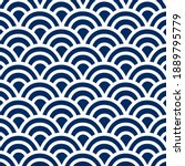 japan curve lines pattern on... | Shutterstock .eps vector #1889795779