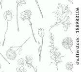 vector seamless pattern of... | Shutterstock .eps vector #188983106