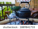 Black Kettle On A Traditional...