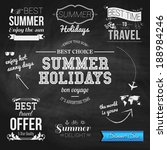 summer design on chalkboard... | Shutterstock .eps vector #188984246