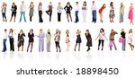 two rows of people | Shutterstock . vector #18898450