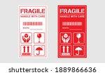 vector illustration of fragile  ...   Shutterstock .eps vector #1889866636