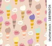 lovely ice   cream cones... | Shutterstock .eps vector #188986934