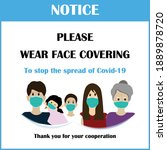 wear face mask sign and symbol. ... | Shutterstock .eps vector #1889878720