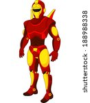 cartoon red humanoid robot