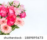 Bouquet Of Fresh Pink Roses ...