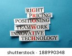 growth  acronym in business... | Shutterstock . vector #188990348