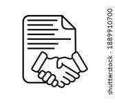business contract handshake... | Shutterstock .eps vector #1889910700
