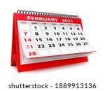 3d Desktop Calendar February...
