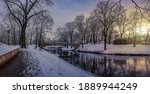 Panoramic Winter Landscape With ...