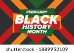 black history month. african... | Shutterstock .eps vector #1889952109