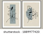set of trendy posters with... | Shutterstock .eps vector #1889977420