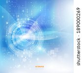 technology futuristic digital... | Shutterstock .eps vector #189000269