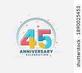 45 anniversary celebration ... | Shutterstock .eps vector #1890025453