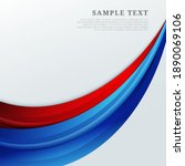 abstract red and blue curves... | Shutterstock .eps vector #1890069106