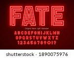 neon light 3d alphabet  extra...   Shutterstock .eps vector #1890075976