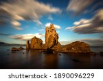Long Exposure Of Cliffs In The...