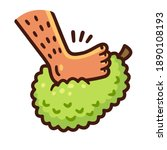 cartoon foot stepping on...   Shutterstock .eps vector #1890108193