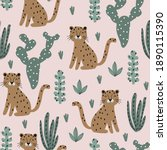 cute vector seamless pattern... | Shutterstock .eps vector #1890115390