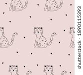 cute vector seamless pattern... | Shutterstock .eps vector #1890115393