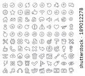one hundred vector icons set... | Shutterstock .eps vector #189012278