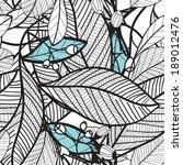flower pattern seamless  eps 10   Shutterstock .eps vector #189012476