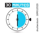 thirty minutes stop watch  ... | Shutterstock .eps vector #189013520