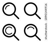 magnifying glass or search icon ...