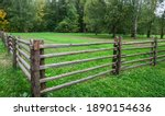 A Fence Made Of Wooden Sticks ...