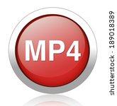 mp4 icon | Shutterstock . vector #189018389