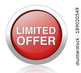 limited offer button | Shutterstock . vector #189020549