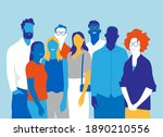 a team of happy young people...   Shutterstock .eps vector #1890210556