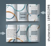 brochure template with abstract ... | Shutterstock .eps vector #189021398