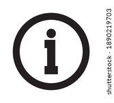 information icon   info symbol... | Shutterstock .eps vector #1890219703