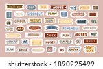 set of stickers with hand...   Shutterstock .eps vector #1890225499